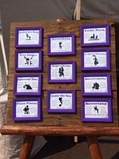 Our wedding seating chart with a touch of Disney! More