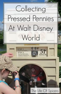 Collecting Pressed Pennies At Walt Disney World - a fun cheap way to collect souvenirs #pressedpennies #waltdisneyworld #disneyparks #wdw