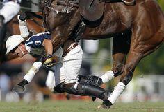 Polo. Pablo Mac Donough de Dolfina  falling off his horse  in an Argentinian Polo Championship // Emiliano Lasalvia / World Press Photo 2014