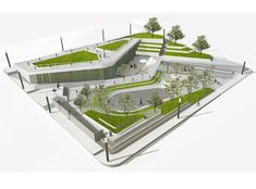 Can Am Landscaping Girard Il Plan Concept Architecture, Landscape Architecture Design, Green Architecture, Landscape Plans, Architecture Portfolio, School Architecture, Design D'espace Public, Design Plaza, Parking Design