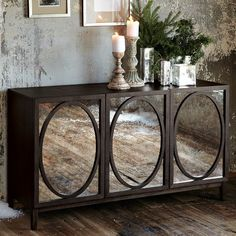 Very cool!   Wondering if I can take a rehab buffet and put mirrors and trim on them.   Been watching alot of the Nate Berkus show!