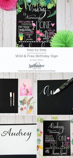Audrey is turing one! What better way to celebrate than with a custom Wild & Free Birthday Sign?  http://www.spellbindersblog.com/guest-blogger-debi/?utm_campaign=coschedule&utm_source=pinterest&utm_medium=Spellbinders&utm_content=Guest%20Blogger%3A%20Debi%20Adams%2C%20Wild%20and%20Free%20Birthday%20Sign