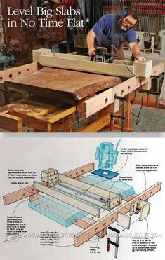 Router Planning Jig - Router Tips, Jigs and Fixtures | WoodArchivist.com #WoodworkingTools