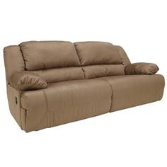 Signature Design by Ashley Furniture Hogan - Mocha 2 Seat Reclining Sofa - Sam's Appliance & Furniture - Reclining Sofa
