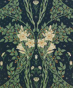Francesca Art Nouveau-inspired #wallpaper by Walter Crane, England, 1902 l Victoria and Albert Museum