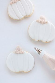 Fall White Pumpkin Cookies