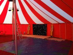 Bigtopmania 12 x 16.5m red and white party tent in the daytime