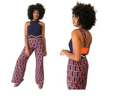 Ankara and mixed fabric jumpsuit Belt NOT included More info on website #ShopAyo
