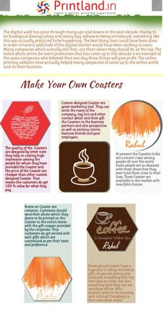 Coaster Design, Custom Coasters, Online Print Shop, Kolkata, Design Templates, Pune, Chennai, Custom Photo, Mumbai