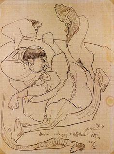 Stanisław Ignacy Witkiewicz (Witkacy), Mnich walczący z obłędem, rysunek, 1924, fot. dzięki uprzejmości Muzeum Pomorza Środkowego w Słupsku - photo 4