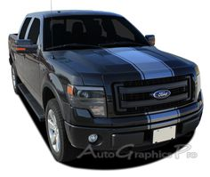 """2009 - 2014 Ford F-150 """"CENTER STRIPE"""" Factory Style Vinyl Decal Graphic Stripes"""