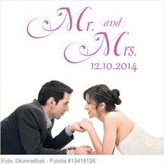 Wandtattoo Hochzeit Mr. and Mrs.