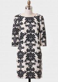 regency baroque shift dress