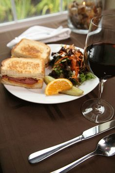 Westport Winery is offering gluten-free option on all of sandwiches today and the bread is really great!
