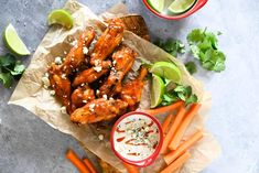 These Keto Air Fryer Buffalo Chicken Wings are perfectly crispy on the outside and tender and juicy on the inside. Covered in spices, butter, and buffalo sauce, they are a flavor explosion. Low Carb Chicken Wings, Frozen Chicken Wings, Air Fryer Chicken Wings, Paleo Chicken Recipes, Keto Chicken, Keto Recipes, Low Carb Appetizers, Appetizer Recipes, Buffalo Chicken