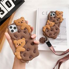 CUTE CHOCOLATE COOKIES AND BEARS PHONE CASE - For-iphone12ProMax / Brown
