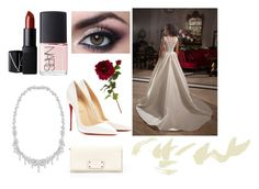 """Wedding"" by alix-roche on Polyvore featuring mode, Christian Louboutin, Kate Spade, Swarovski, NARS Cosmetics et Sia"