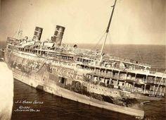 The luxury cruise ship SS Morro Castle was en route from Havana, Cuba, to New York, when the ship caught fire near Asbury Park, New Jersey, where the ship was beached. Of the 549 passengers and crew, more than 130 lost their lives.