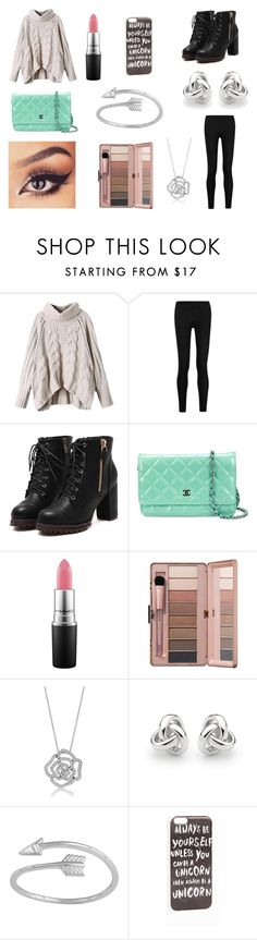 """""""Best quote ever!"""" by rojoubdalia on Polyvore featuring Donna Karan, Chanel, MAC Cosmetics, BERRICLE, Georgini and JFR"""