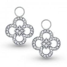 KC Designs Diamond Clover Ear Charms