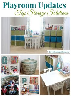 This will BE our playroom! Toy Organization Ideas {Another Playroom Update} - Love of Family & Home Toy Room Organization, Toy Storage Solutions, Playroom Decor, Playroom Ideas, Basement Ideas, Kids Play Area, Toy Rooms, Organizer, Girl Room