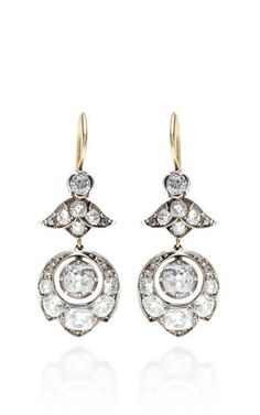Antique Diamond Drop Earrings by Doyle & Doyle for Preorder on Moda Operandi