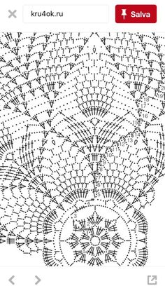 Diy Crafts - Crocheted Tablecloth with pineapple design Crochet Tablecloth Pattern, Free Crochet Doily Patterns, Crochet Doily Diagram, Crochet Chart, Crochet Motif, Crochet Doilies, Crochet Lace, Doily Rug, Diy Crafts Crochet