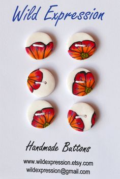 Polymer Clay Buttons by wildexpression on Etsy, €3.00
