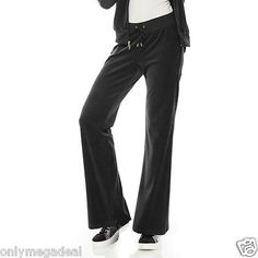 NWT-Juicy-Couture-Womens-Tracksuit-Pants-LONG-Velour-Bootcut-tall-girls-medium