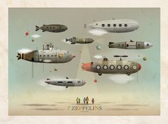 7 Zeppelins by Christian Turdera.