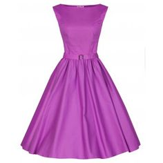 Audrey Orchid Swing Dress | Vintage Inspired Fashion - Lindy Bop