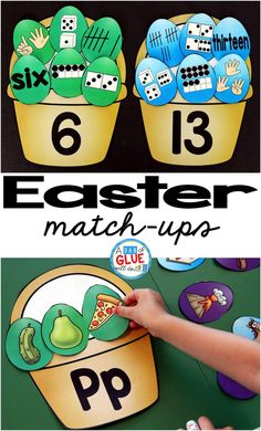 Make learning fun with these themed Initial Sound and Number Match-Ups. Your elementary age students will love this fun Easter themed literacy center and math center! Perfect for literacy stations, math stations, or small review groups. Use in your Preschool, Kindergarten, and First Grade classrooms. Black and white options available to save your color ink. #easter #spring #printables