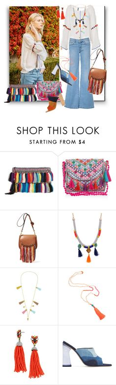 """""""Tassel"""" by sylandrya ❤ liked on Polyvore featuring Christophe Sauvat, Monsoon, Chloé, BaubleBar, Amélie Pichard and Gianvito Rossi"""