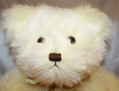 "19"" Charter Club Yellow Cream Plush Big Teddy Bear Gold Bow Stuffed Animal Brown"