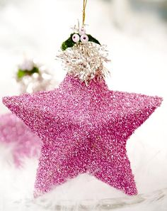 10 DIY Glitter Christmas Tree Ornaments - More ideas for Princess Pie's tree next year