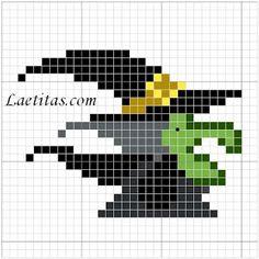 Esquemas halloween en punto de cruz muy simples | En Punto de cruz Cross Stitch Silhouette, Witch Silhouette, Cross Stitch Skull, Small Cross Stitch, Cross Stitching, Cross Stitch Embroidery, Cross Stitch Patterns, Stitching Patterns, Halloween Beads
