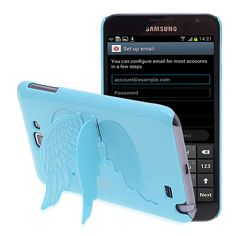 Galaxy angel wings blue stand case $5.68
