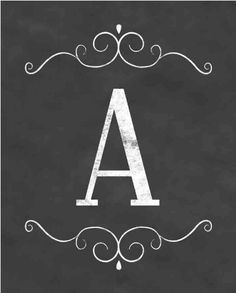 free printable letters - whole alphabet for banners and pendants Printable Letters, Printable Art, Free Printables, Chalkboard Printable, Chalkboard Lettering, Chalkboard Designs, Chalk Art, Free Prints, Letters And Numbers