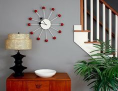 How To:  Make a Mid Century Inspired Clock for $30