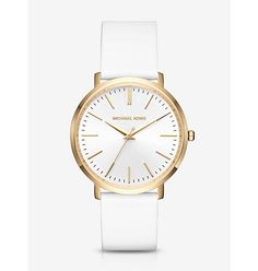 Michael Kors Jaryn Gold-Tone and Silicone Watch, Gold(Gold)