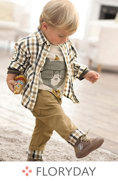 FloryDay / New Year Sale New Year Boys' Plaid Daily Long Sleeve, Clothing Sets Baby Outfits, Plaid Outfits, Toddler Boy Outfits, Toddler Boys, Baby Boys, Kids Boys, Fashion Kids, Baby Boy Fashion, Toddler Fashion