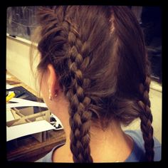 That is such a cool 4 strand braid!!! I must try!!! (: