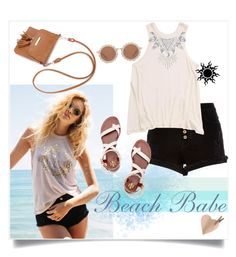 """""""Beach Babe"""" by captainsilly ❤ liked on Polyvore featuring Spiritual Gangster, River Island, Billabong, Tory Burch and House of Holland"""