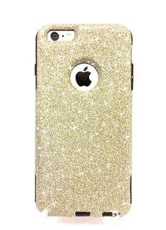 iPhone 6 Plus Custom Glitter Otterbox Commuter by NaughtyWoman