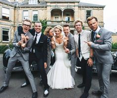 Danny & Georgia Jones wedding with a boys from McBusted Wedding Humor, Wedding Day, Getting Married, Got Married, Mr And Mrs Jones, Georgia Wedding, Bridesmaid Dresses, Wedding Dresses, Celebrity