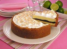 Receita da torta de limão com recheio de chocolate