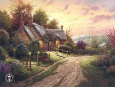 Thomas Kinkade was an American painter of popular realistic, bucolic, and idyllic subjects. He is notable for the mass marketing of his work as printed reproductions and other licensed products via The Thomas Kinkade Company.