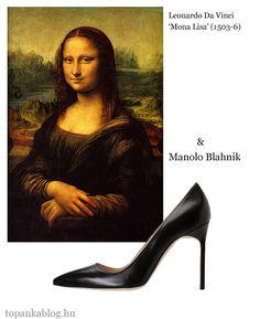 Painting by Leonardo Da Vinci, shoes by Manolo Blahnik