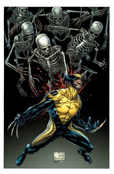 Joe Quesada's variant cover to DEATH OF WOLVERINE #1