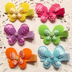 Butterfly Hair Clips-  Birthday Party Favors- plus one FREE hairclip for the birthday girl, $12